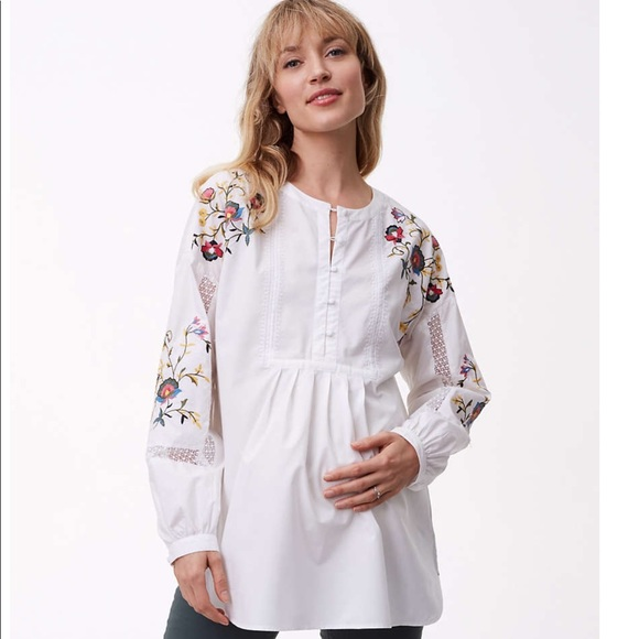 b0c53d5c2881b LOFT Other | New Embroidered Shirt Maternity | Poshmark